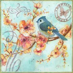 bluebird - looks like a tufted titmouse