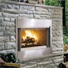 Monessen ODSR36A Al Fresco Series 36-Inch Outdoor Wood Burning Fireplace - Stainless Steel : Fire Pit Guys