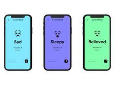 Employee Engagement App - Mood Tracker UI by Spikey sanju Mobile Ui Design, App Ui Design, Interface Design, Web Design, Habit Tracker App, Mood Tracker, Emotions App, Dashboard App, App Design Inspiration