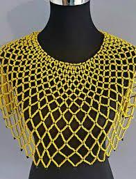 zulu necklace ile ilgili görsel sonucu African Wear, African Dress, African Fashion, Diy Necklace, Jewelry Necklaces, Formal Business Attire, African Beads Necklace, African Accessories, Native American Beadwork