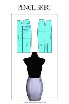 How to divide a basic skirt pattern into panels. Pattern Cutting, Pattern Making, Dress Sewing Patterns, Skirt Patterns, Types Of Skirts, Diy Fashion, Fashion Design, Pattern Drafting, Pattern Fashion