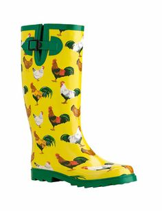 Gardener's Wellies Chicken Wellies gardeners.com