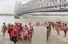 Raghubir Singh's picture of a bride and groom under the Howrah bridge in west Bengal, taken after rites performed by the Ganges, 1968. Photograph: 2012 Succession Raghubir Singh.