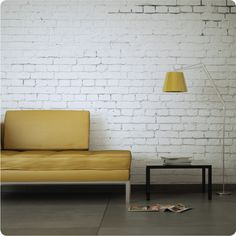 WHITE BRICK WALL REMOVABLE WALLPAPER Price: $89.95  Brand: The Wall Sticker Company