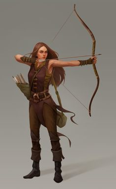 Archer3 by Kseniya Sibileva on ArtStation. Pretty darn good technique, too!