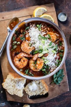 Big Easy Style Saucy Creole Shrimp #shrimp #mardigras #recipe