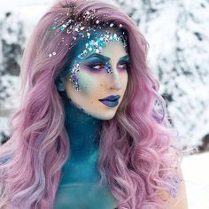 "7,704 Likes, 20 Comments - Beserk (@beserk) on Instagram: ""@jessikapetten is a perfect winter mermaid in Sugarpill Eyeshadows in Mochi, Royal Sugar, 2AM &…"""