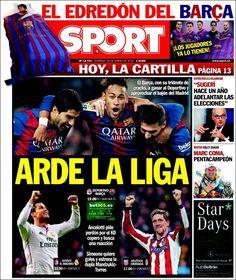Portada Sport 18/1/2015