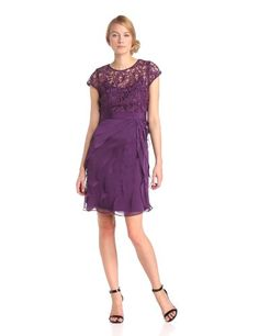 Adrianna Papell Women's Short Sleeve Lace Bodice « MyStoreHome.com – Stay At Home and Shop