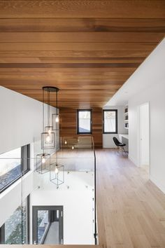 bourgeois / lechasseur wraps canadian house in the woods with cedar shingles House Design, New Homes, House, Interior Design News, Contemporary House, Shingle House, Ceiling Design, Residential Construction, Canadian House