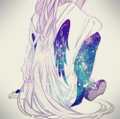 ♡ Winged Galaxy Anime Girl ♡