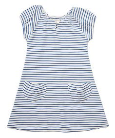 Another great find on #zulily! Mariner Stripe Bella Ona Dress - Toddler & Girls #zulilyfinds