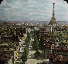 Bird's-Eye View of Paris from Arch of Triumph. OSU Special Collections and Archives via Flickr.