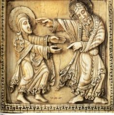 Noli Me Tangere. Ivory plaque from a reliquary, Léon, ca.1115-20. The Metropolitan Museum of Art, NY