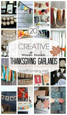 Creative Thanksgiving Garlands #garlands #thanksgiving #budgettravel #travel #diy #craft #holiday #holidays #Thanksgiving #turkey #winter www.budgettravel.com