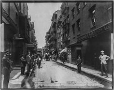 vintage everyday: Pell Street, New York, circa 1900