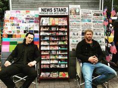 Tom Hiddleston and Chris Hemsworth filming on the set of Thor: Ragnarok