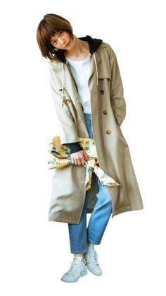 Tsubasa Honda, Girl Fashion, Womens Fashion, Art Sketches, Raincoat, Idol, Actresses, Poses, My Favorite Things