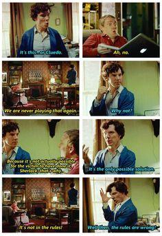 John and Sherlock discuss Cluedo