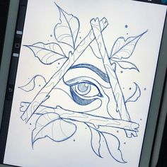 Neo traditional eye in a triangle. Had to draw one lol. DM or Email for appointments. Neo Traditional Art, Traditional Tattoo Design, Traditional Tattoo Outline, Feather Tattoos, Body Art Tattoos, Trendy Tattoos, Small Tattoos, Tattoo Sketches, Tatoo