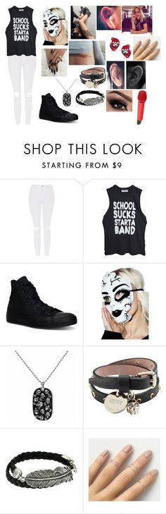 """Devon Exciting Performance"" by ximena101 ❤ liked on Polyvore featuring Topshop, Converse, Leg Avenue, Alexander McQueen, King Baby Studio and Sennheiser"