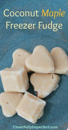 Coconut Maple Freezer Fudge