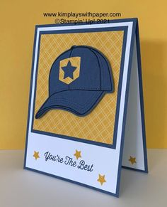 Masculine Birthday Cards, Birthday Cards For Men, Masculine Cards, Boy Cards, Kids Cards, Men's Cards, Card Making Tutorials, Card Making Techniques, Baseball Birthday
