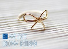 DIY: wire bow ring.