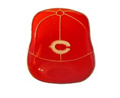 "CINCINNATI REDS Logo Baseball Cap mlb vintage enamel pin badge OHIO Oh by VintageTrafficUSA  11.00 USD  A vintage Cincinnati pin! Excellent condition. Measures: approx 1"" These rare pins are proven to win you friends and influence people! Add inspiration to your handbag tie jacket backpack hat or wall. 20 years old hard to find vintage high-quality cloisonne lapel/pin. Beautiful die struck metal pin with colored glass enamel filling. -------------------------------------------- SECOND ITEM…"