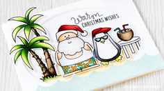 A window frame highlights this fun Christmas card using SSS Warm Christmas Wishes (Lime Doodle - Debby Hughes)