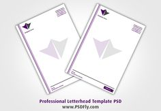 Professional Letterhead Template PSD Preview