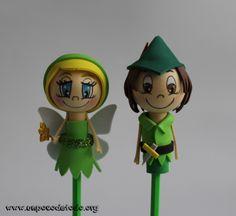 www.unpocodetodo.org - Fofulápices de Campanilla y Peter Pan - Fofulápices - Goma eva - birthday - crafts - cumpleaños - disney - fiesta - foami - foamy - fofuchas - manualidades - party - princesas - princess - 5