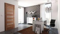 Foliované dveře ACCRA ALU    Jedná se o panelové dveře potažené velice kvalitní a odolnou fólií v nepřeberném množství dekorů. Na výběr jsou různé varianty rozložení a prosklení. Dveře jsou doplněné ozdobnou hliníkovou lištou.  Cena od 6 576 Kč. Divider, Interior Design, House, Furniture, Home Decor, Arch, Technology, Nest Design, Decoration Home