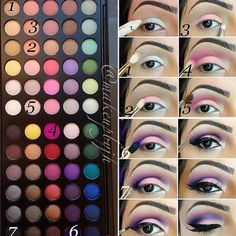 Veeeery pretty! Using BH Cosmetics Day to Night palette (60 colors)