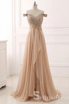 Elegant Prom Dresses, prom dresses,Champagne Sweetheart Off Shoulder Beaded and Sequined Prom Dresses, Long Prom Dresses 2018 Sweater Dresses UK Cheap Prom Dresses Uk, Elegant Prom Dresses, A Line Prom Dresses, Pretty Dresses, Beautiful Dresses, Evening Dresses, Formal Dresses, Dress Prom, Party Dress
