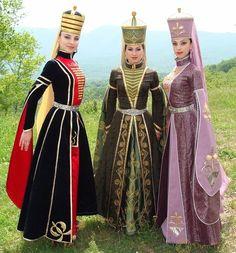 Caucasus, Circassian, Adyghe traditional costumes