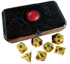 Warlock Tome with Gold Metal Dice