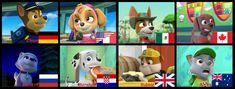 PAW Patrol - Nationalities by mollymolata on DeviantArt Zuma Paw Patrol, Rubble Paw Patrol, Frozen Sisters, Nickelodeon, Furry Art, Power Rangers, Fan Art, Deviantart, Asian Boys
