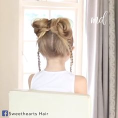 Now this is a hairstyle I want to do! Little Girl Haircuts, Little Girl Braids, Baby Girl Hairstyles, Princess Hairstyles, Girls Braids, Diy Hairstyles, Hairstyles Videos, Braids For Short Hair, Short Hair Styles