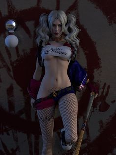 Harley Quinn - Suicide Squad - WIP - 2, Caizergues Noel on ArtStation at https://www.artstation.com/artwork/QWRAd