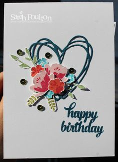 A Sunshine Wishes Bouquet Birthday from Stampin' Up! UK Demonstrator Sarah Poulton