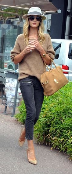 Fall style: Casual Neutrals...great bag!