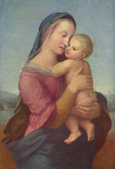 """""""Мадонна Темпи"""" (Madonna Tempi) написана в 1508 году, названа по имени владельцев, флорентийской семьи Темпи. Сейчас картина находится в Мюн..."""