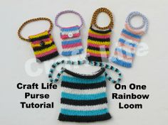 Pin by Alicia Smith on Crafts | Pinterest Rainbow Loom Mini Purse Craft Life