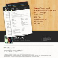 CV templates 14 Amazing Collection Of Free CV/Resume Templates