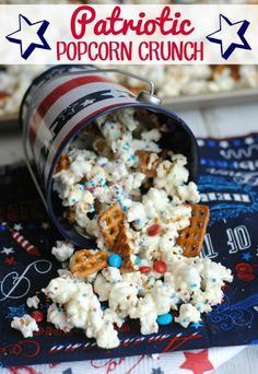 Patriotic Popcorn Crunch – This Mama Loves - Patriotic Treats for 4th of July featured on Kenarry.com