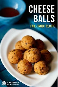 Crispy and golden on the outside, soft and creamy on the inside, these delectable deep-fried Potato and Cheese Balls are the stuff of dreams. An easy, fail-proof recipe for this popular Indian snack is also vegetarian and gluten-free, making it the perfect appetizer to share. Healthy Filling Snacks, Yummy Snacks, Yummy Food, Healthy Food, Snack Recipes, Tasty Vegetarian Recipes, No Dairy Recipes, Tasty Recipe, Indian Snacks