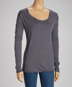 Take a look at this Gray Karlie Organic Tee by TOGGERY on #zulily today!