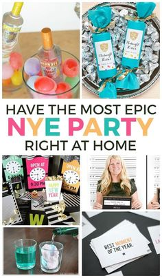 You can have so much fun at home on NYE! Love these New Years Eve party ideas.