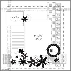 Page Maps 33 - Sketch 2 - Scrapbook.com